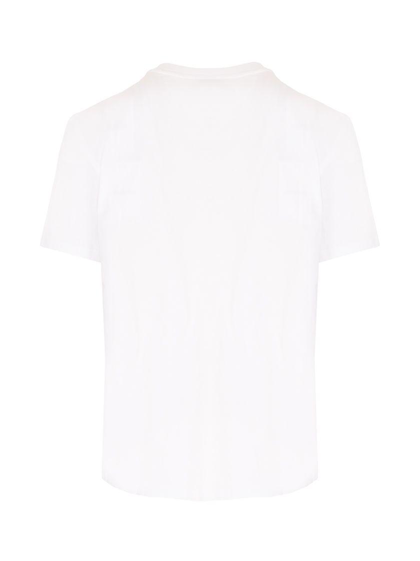 VALENTINO T-shirts VALENTINO MEN'S WHITE OTHER MATERIALS T-SHIRT