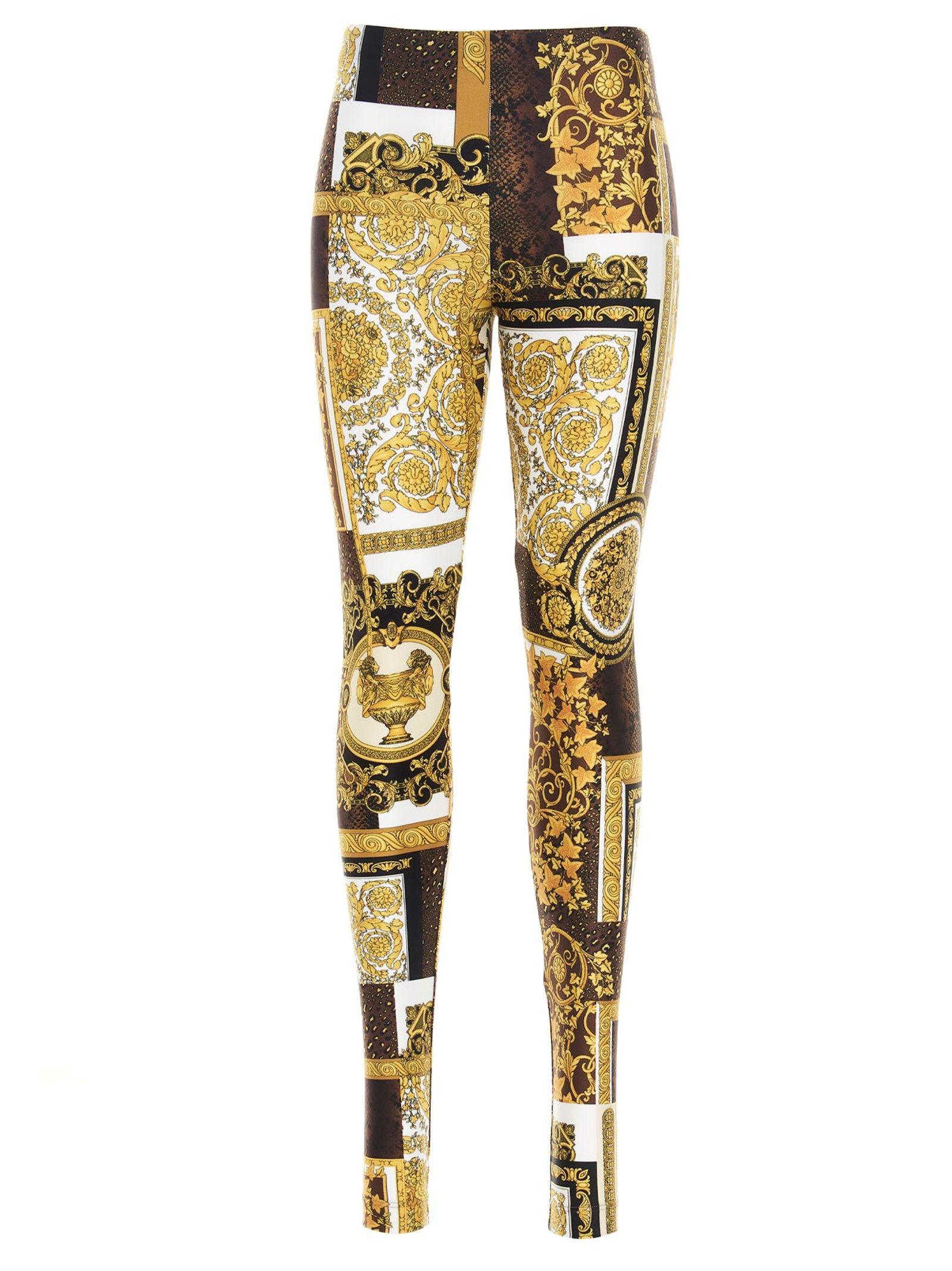 Versace VERSACE WOMEN'S MULTICOLOR OTHER MATERIALS LEGGINGS