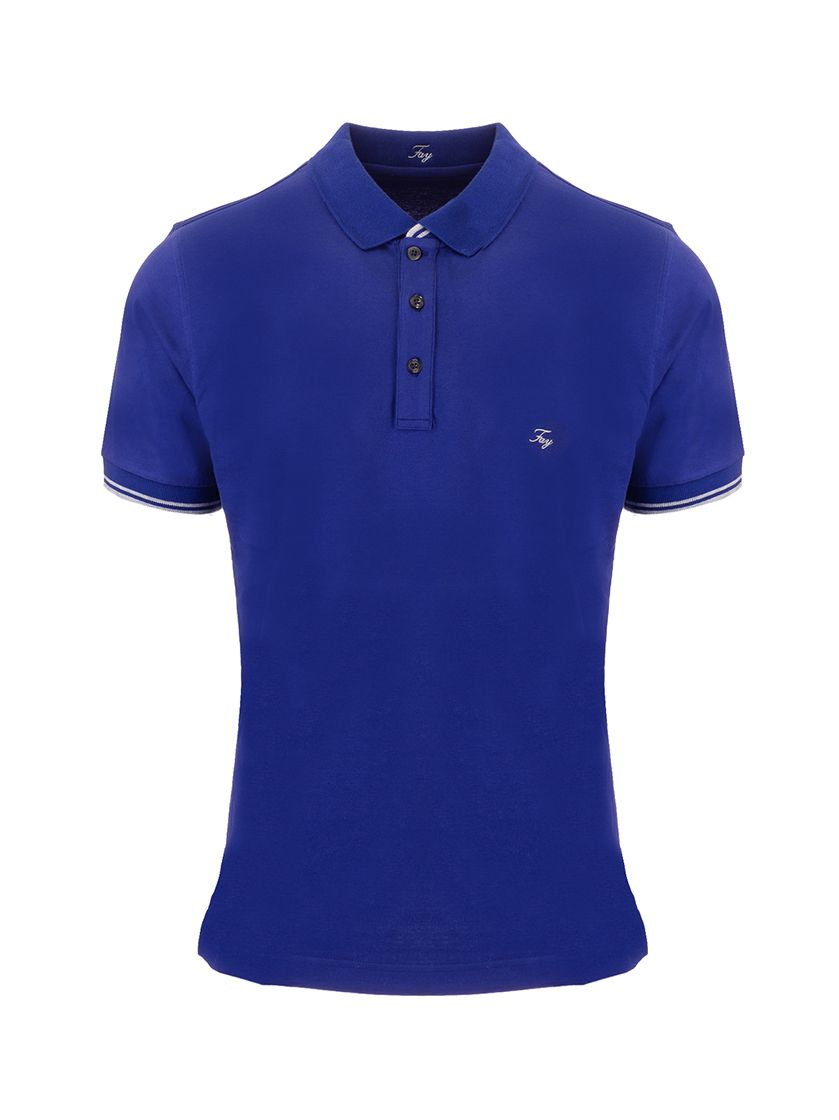 Fay FAY MEN'S BLUE OTHER MATERIALS POLO SHIRT