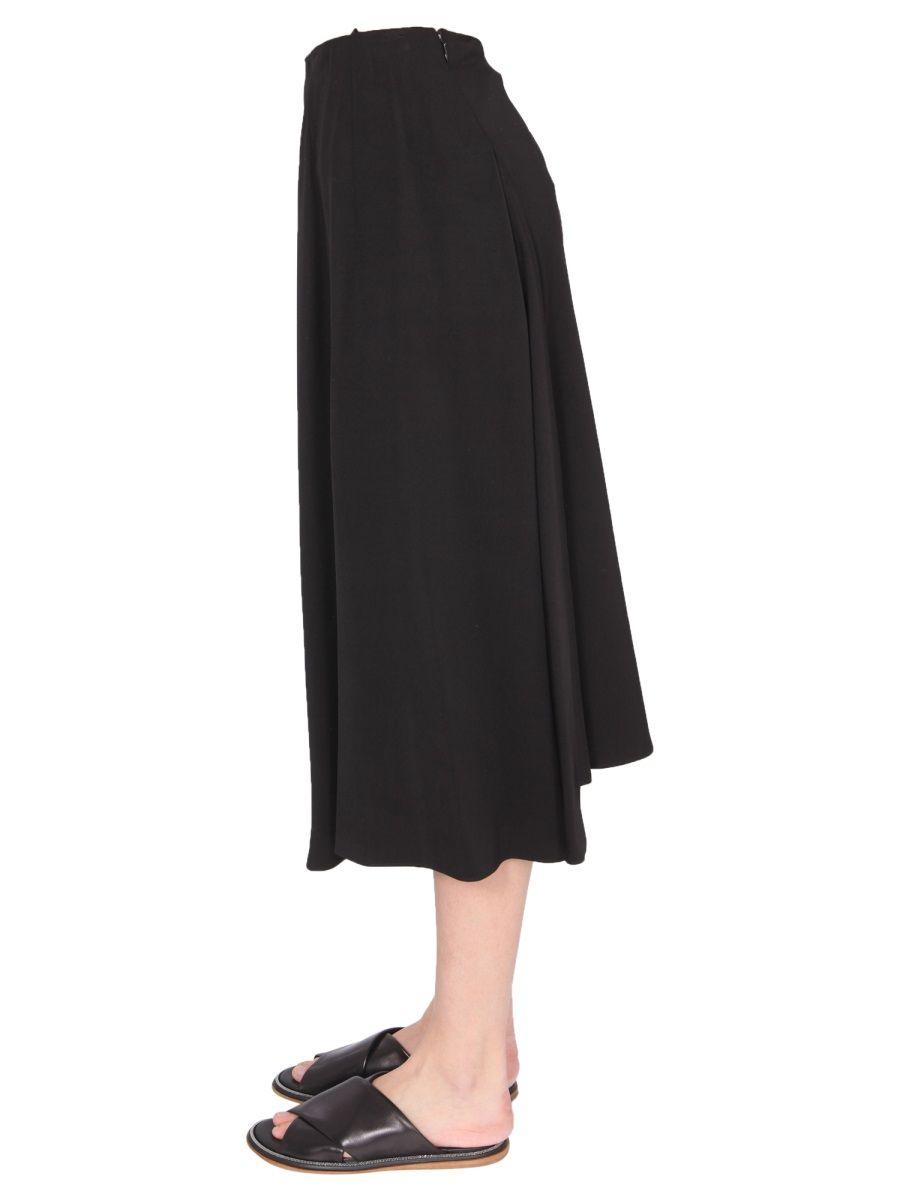 ASPESI Skirts ASPESI WOMEN'S BLACK OTHER MATERIALS SKIRT