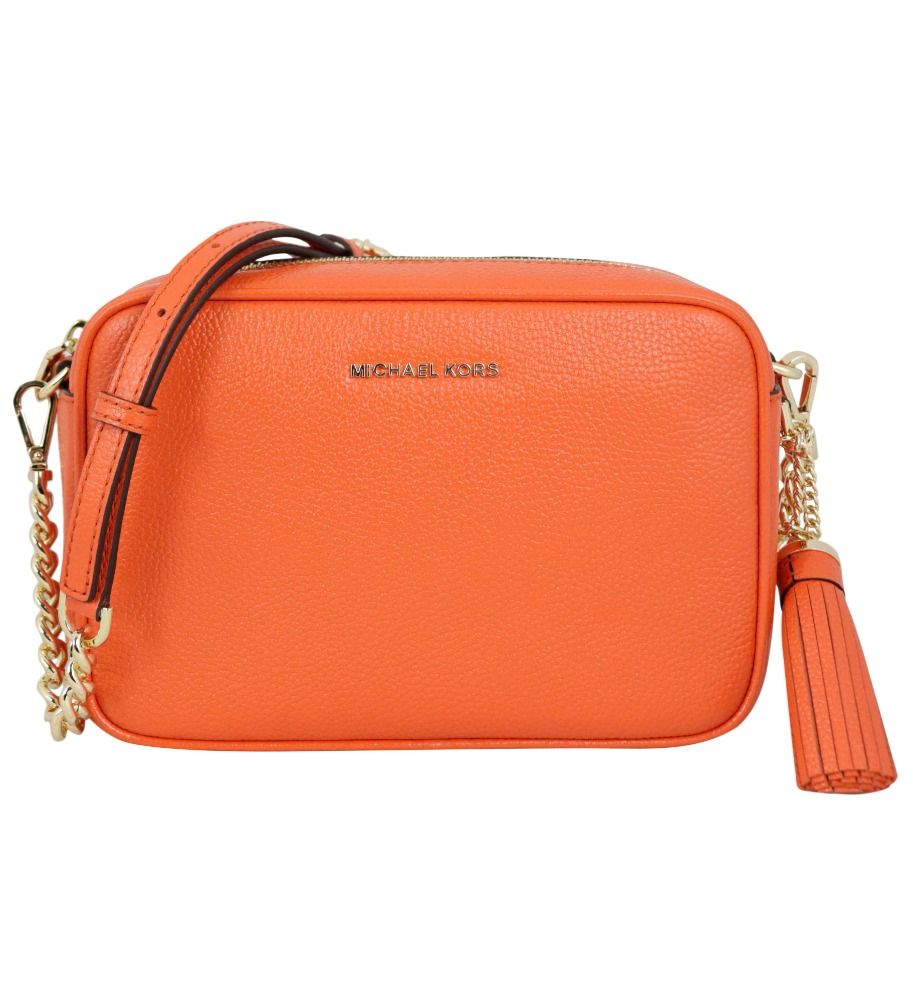Michael Kors MICHAEL KORS WOMEN'S ORANGE LEATHER SHOULDER BAG