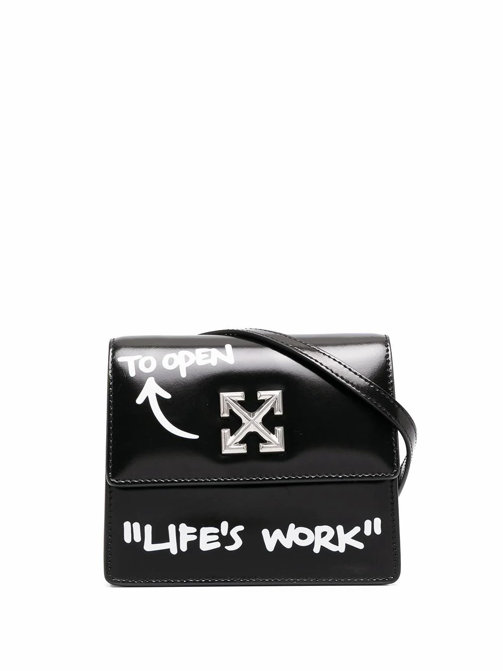 Off-White OFF-WHITE WOMEN'S BLACK LEATHER SHOULDER BAG