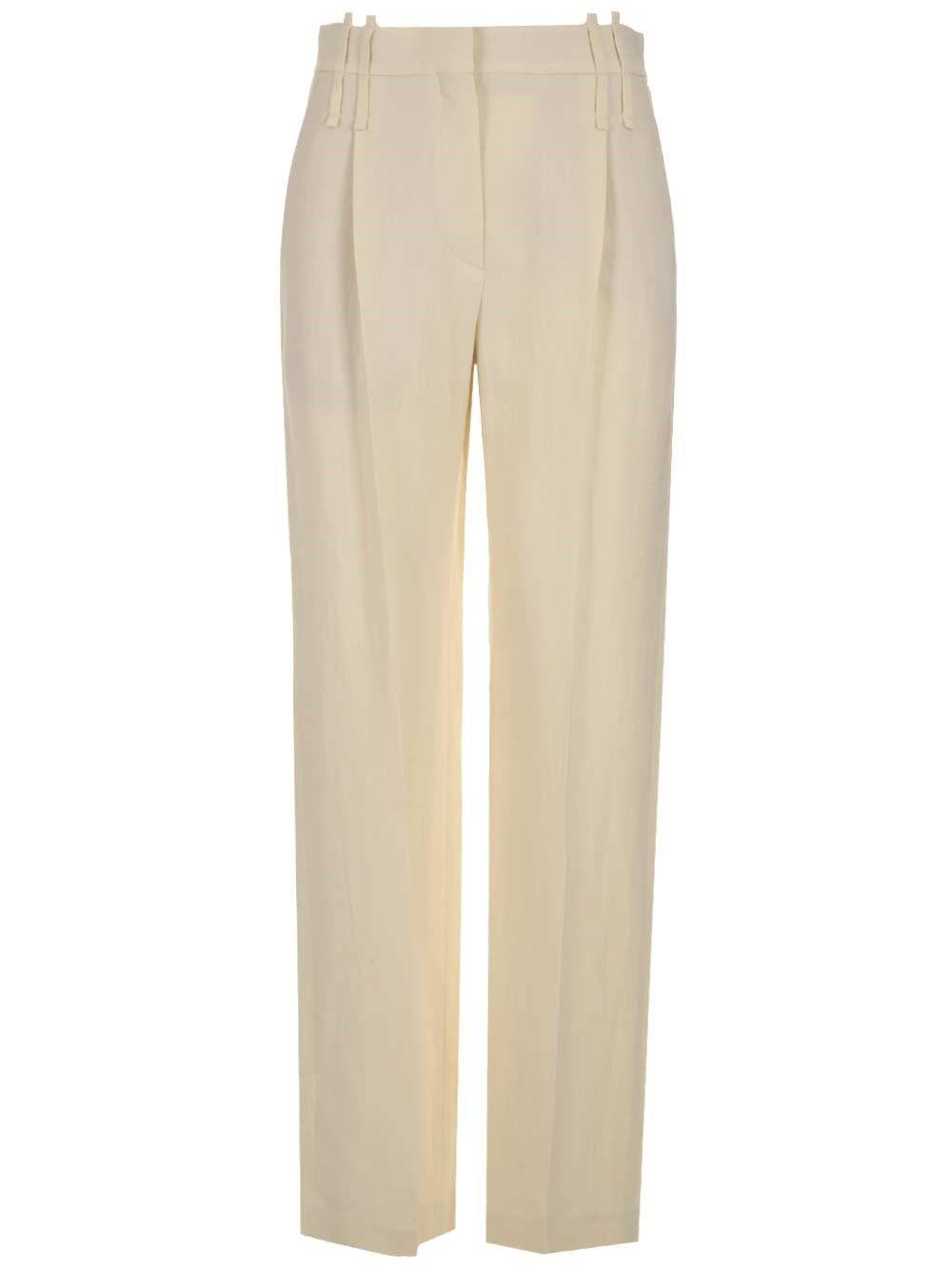 Brunello Cucinelli BRUNELLO CUCINELLI WOMEN'S WHITE OTHER MATERIALS PANTS