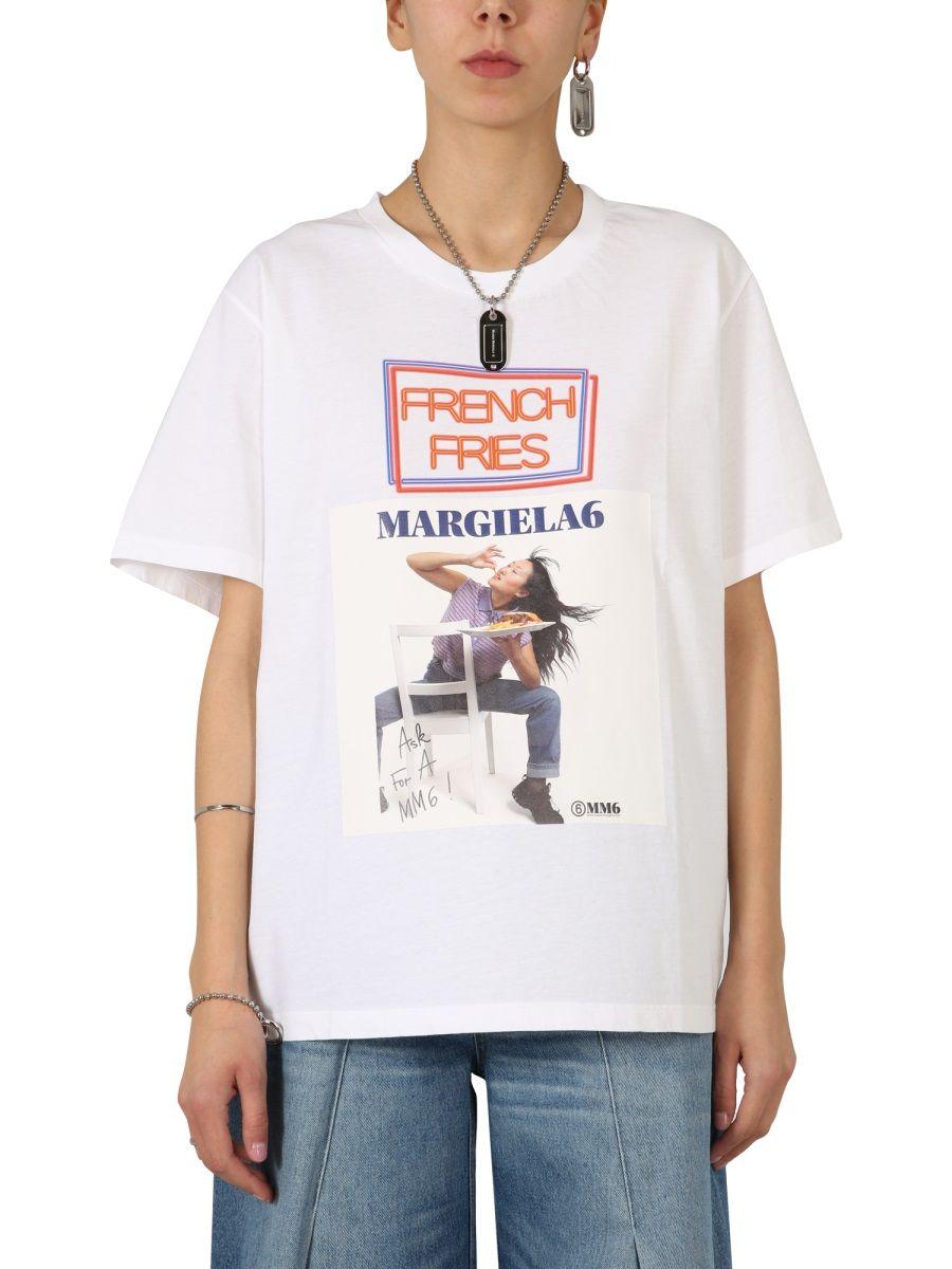 Maison Margiela MAISON MARGIELA WOMEN'S WHITE OTHER MATERIALS T-SHIRT