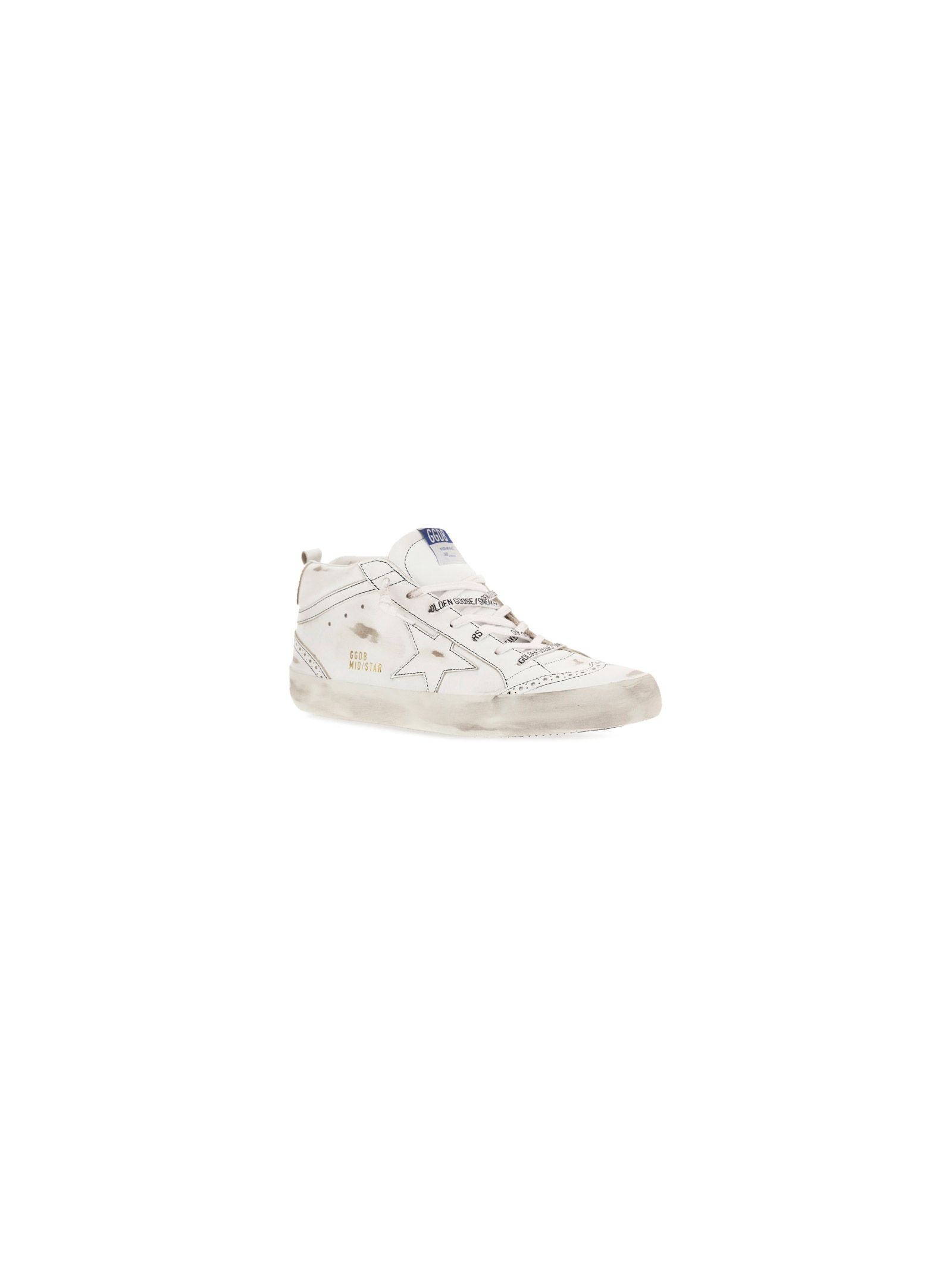 GOLDEN GOOSE Leathers GOLDEN GOOSE MEN'S WHITE OTHER MATERIALS SNEAKERS