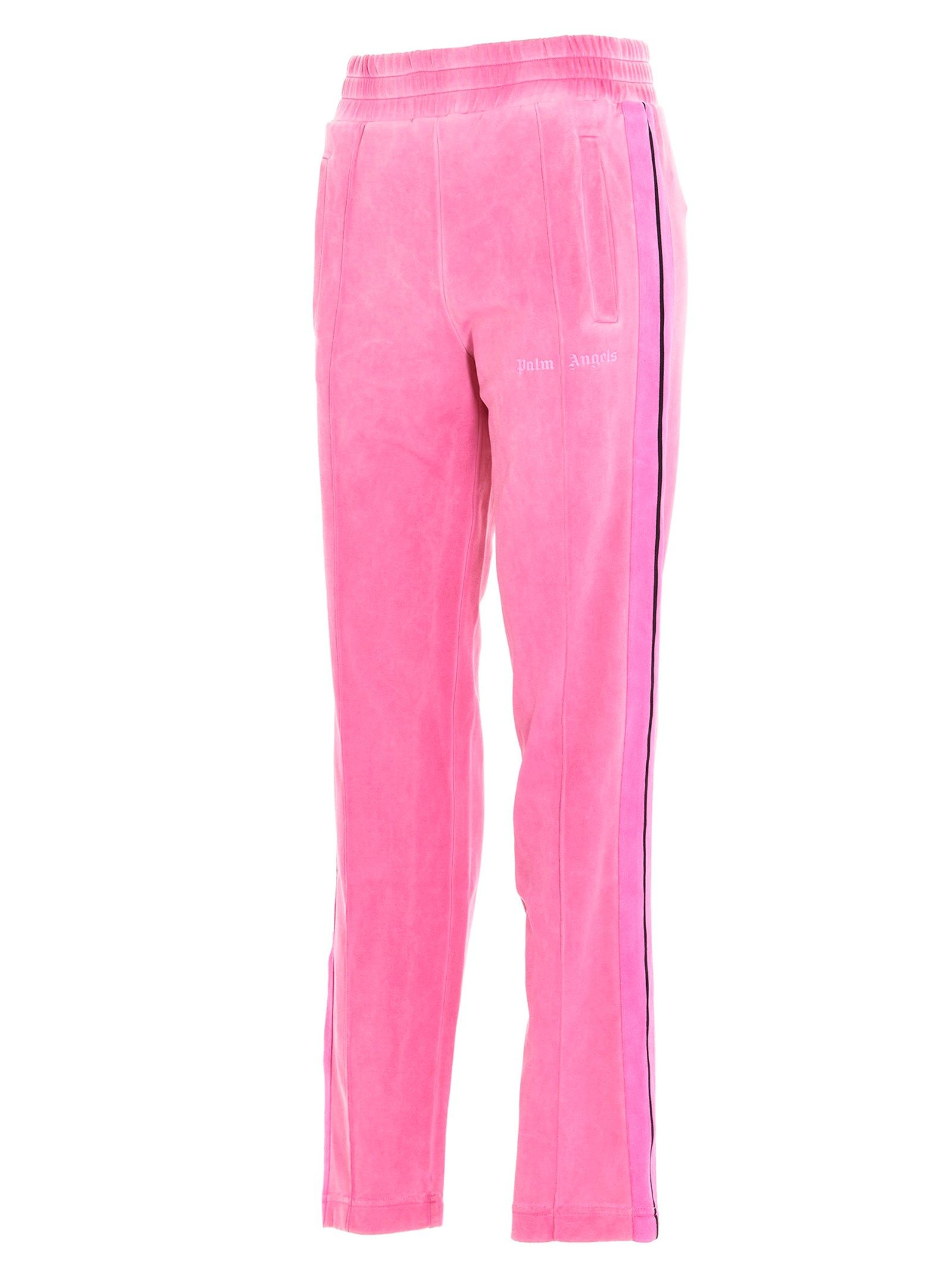 PALM ANGELS Track pants PALM ANGELS WOMEN'S FUCHSIA POLYAMIDE JOGGERS