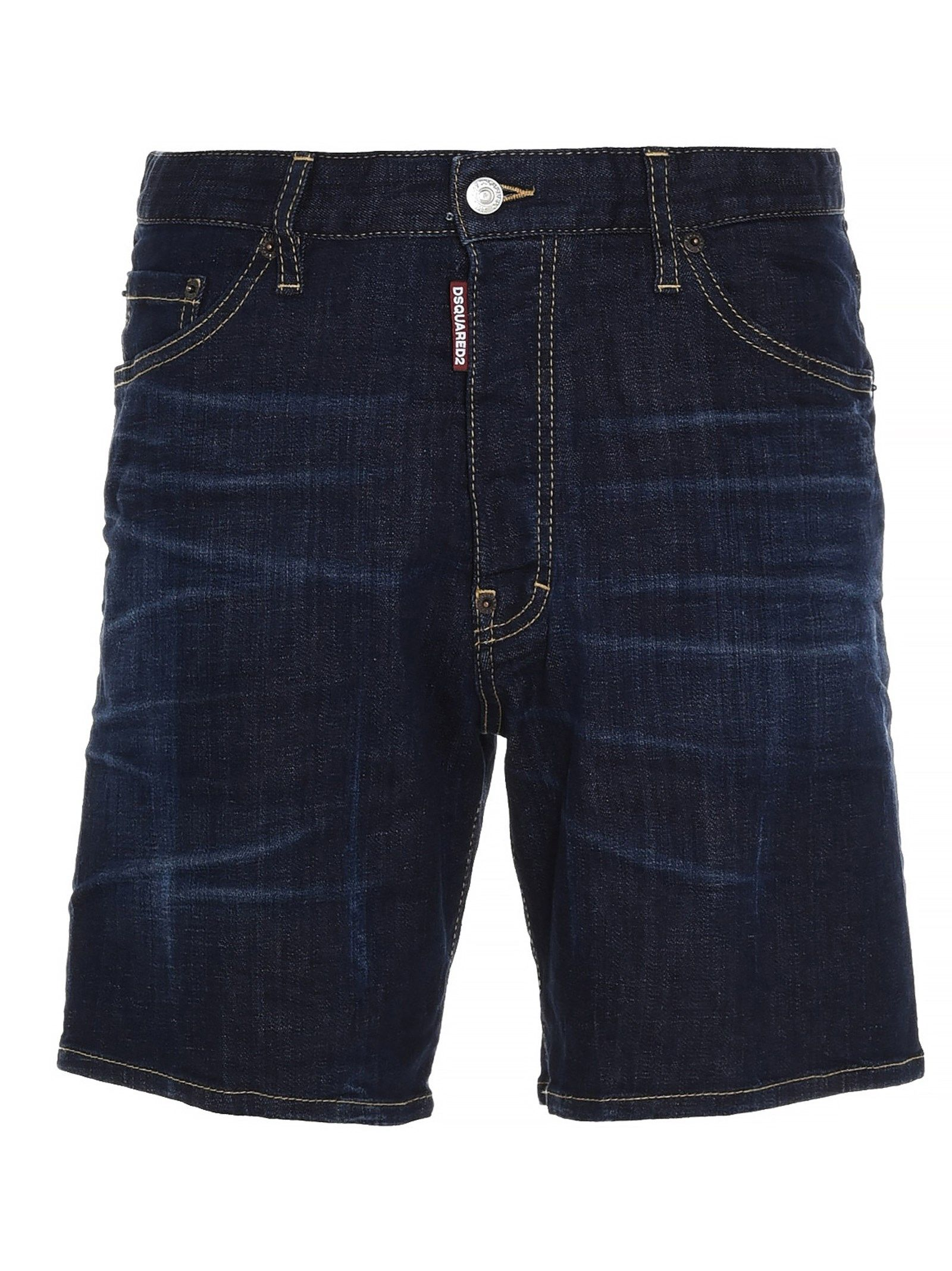 Dsquared2 Cottons DSQUARED2 MEN'S BLUE OTHER MATERIALS SHORTS