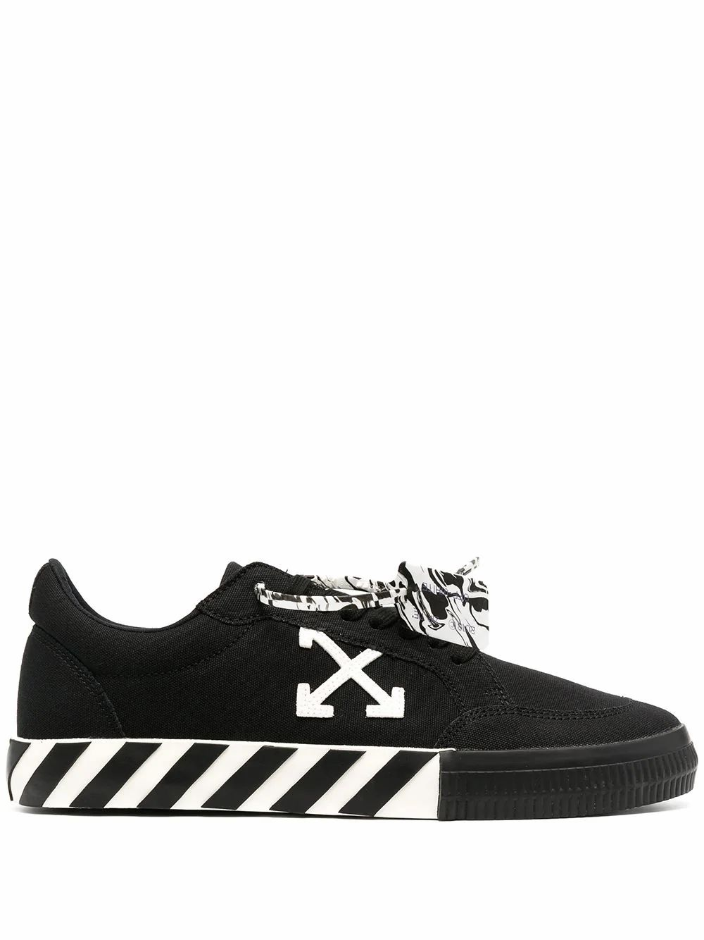 Off-White Leathers OFF-WHITE MEN'S BLACK LEATHER SNEAKERS