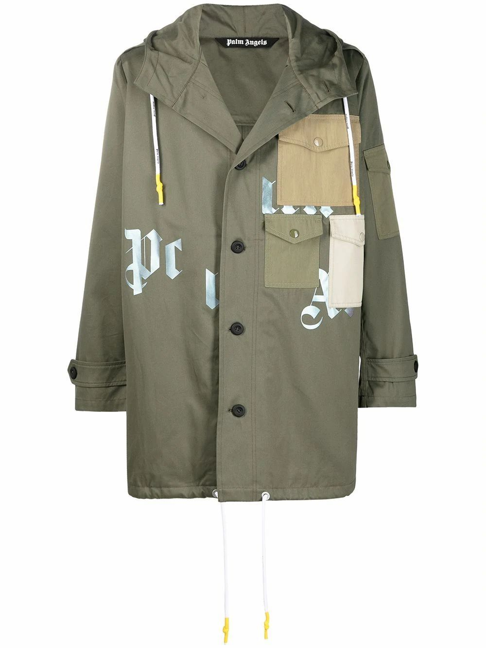 Palm Angels PALM ANGELS MEN'S GREEN COTTON OUTERWEAR JACKET