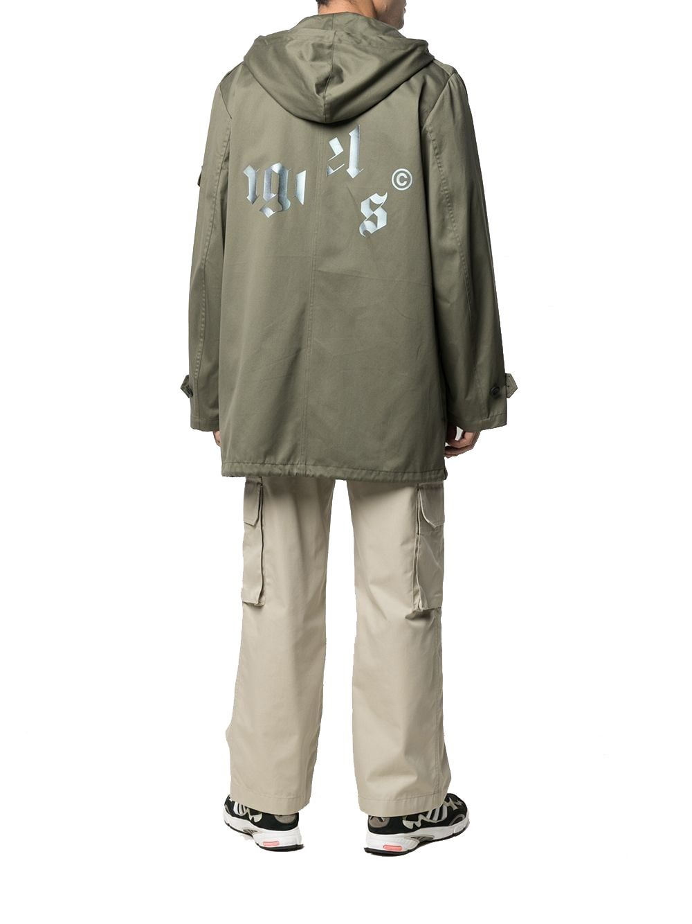PALM ANGELS Cottons PALM ANGELS MEN'S GREEN COTTON OUTERWEAR JACKET