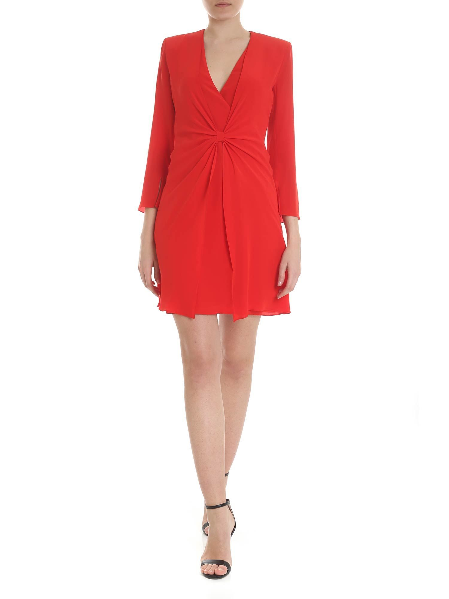 Emporio Armani EMPORIO ARMANI WOMEN'S RED SILK DRESS