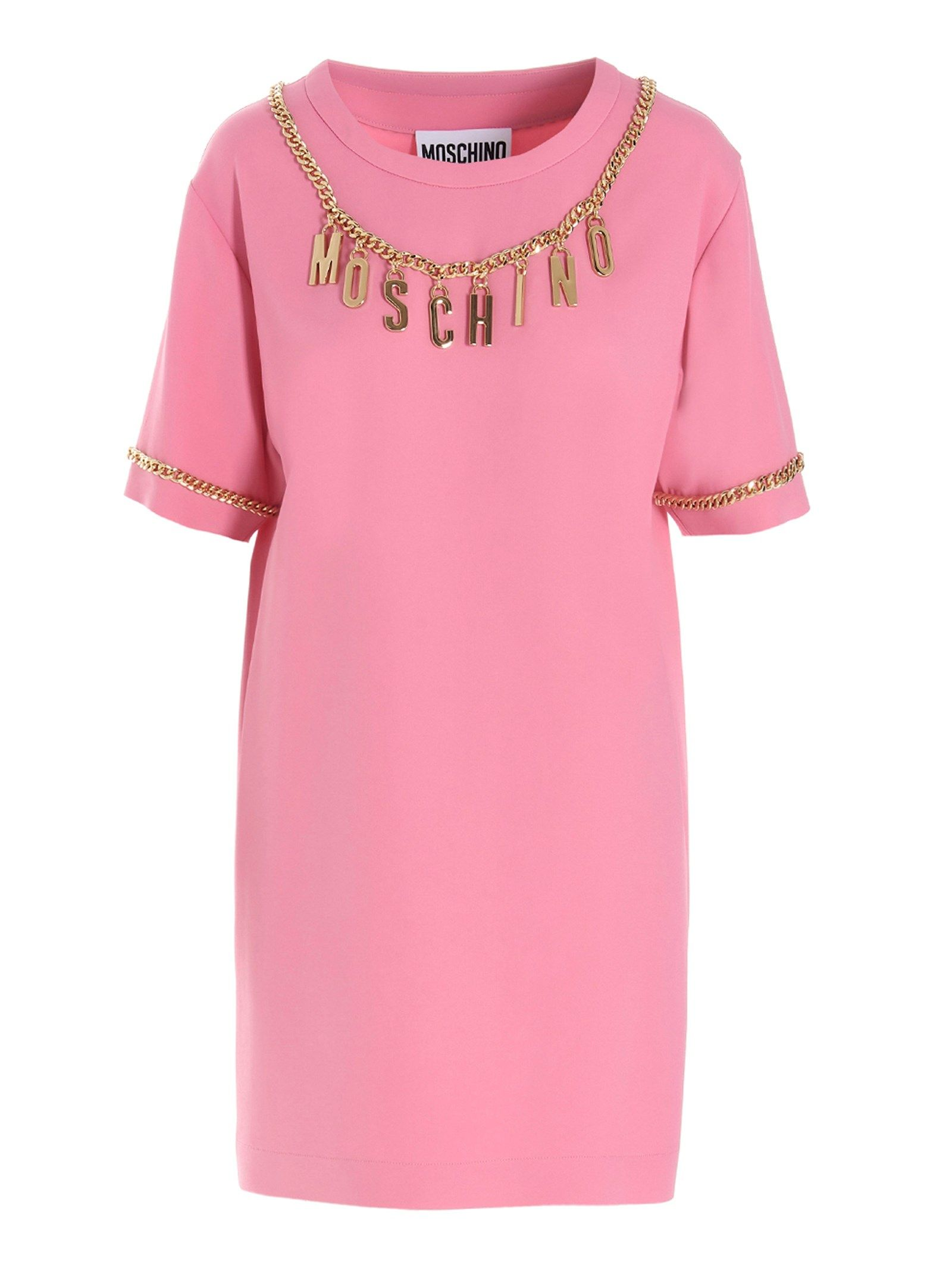 Moschino MOSCHINO WOMEN'S PINK OTHER MATERIALS DRESS