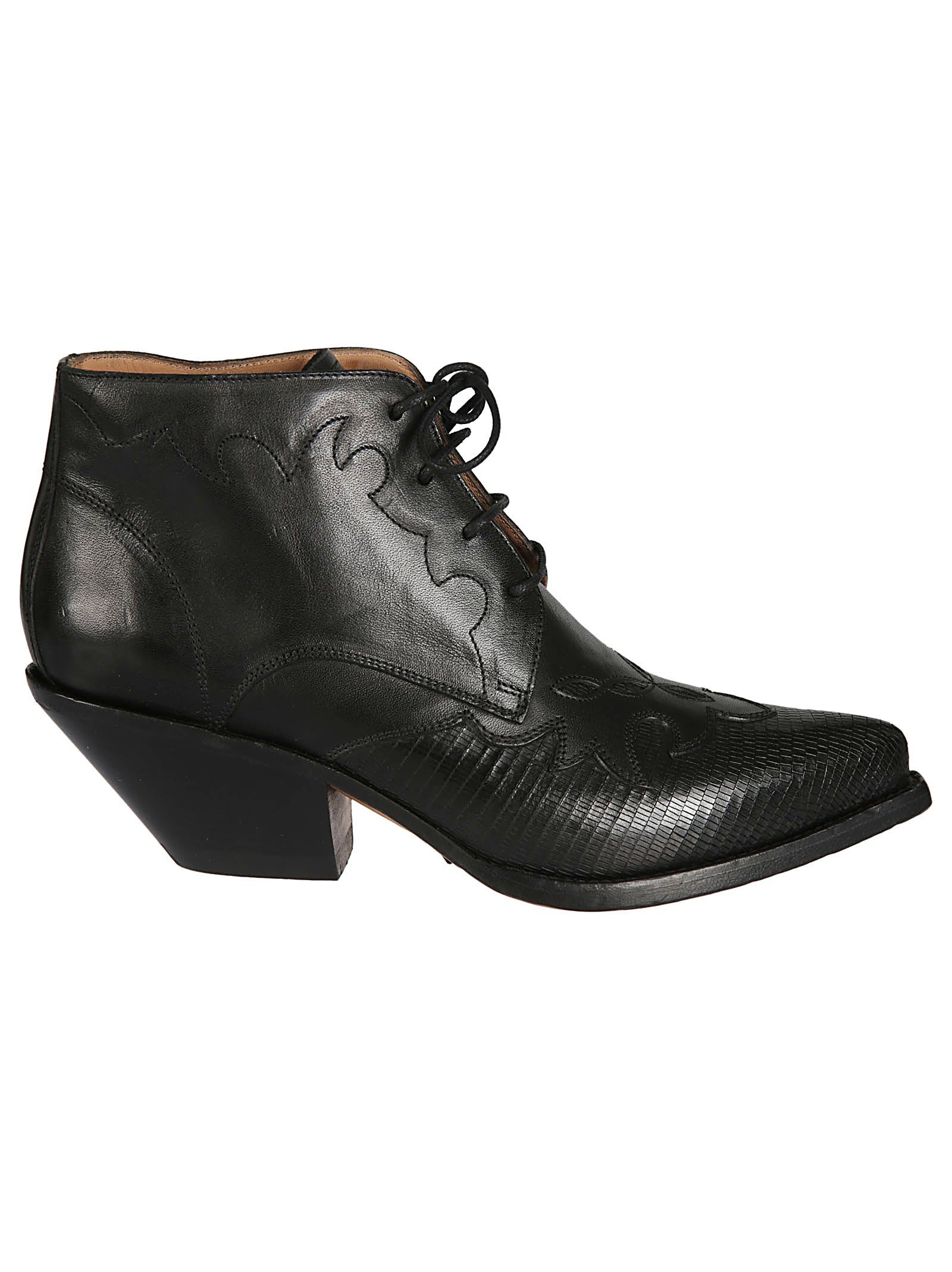 Buttero WOMEN'S B8109VARADC01 BLACK LEATHER ANKLE BOOTS