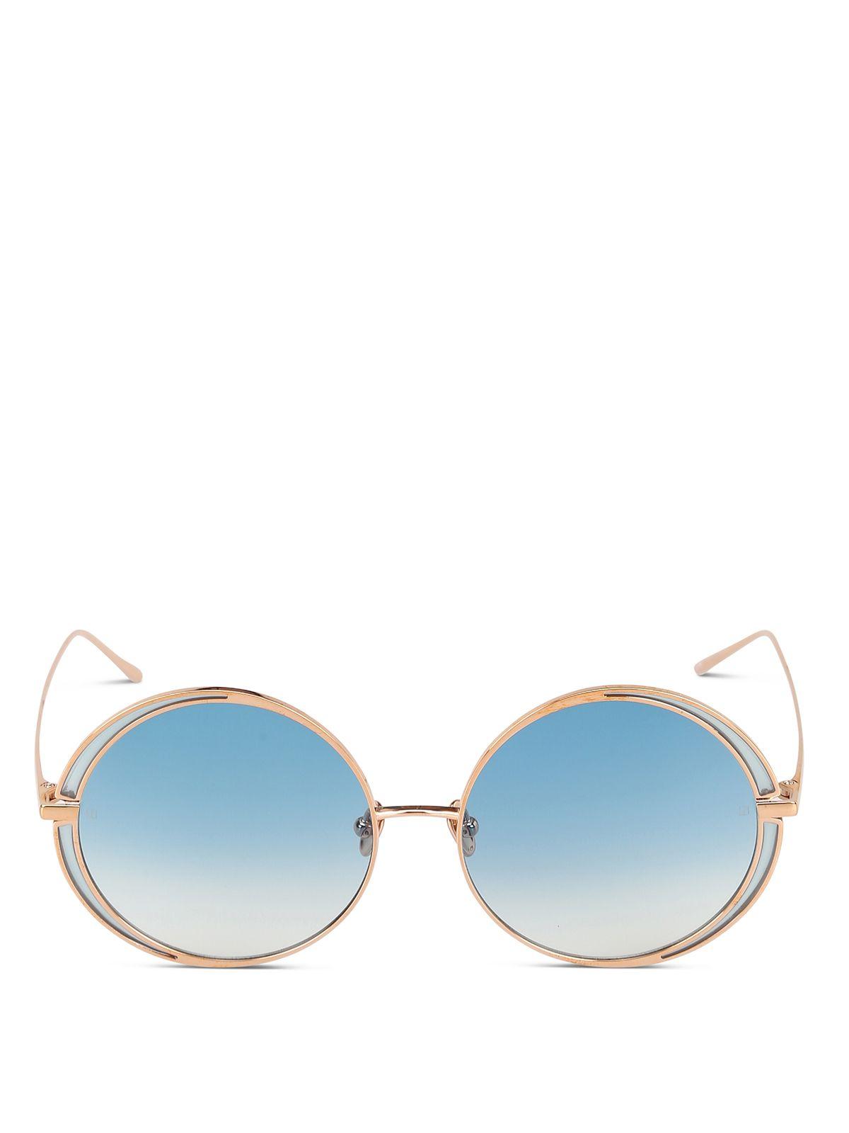 Linda Farrow Gold Metal Sunglasses