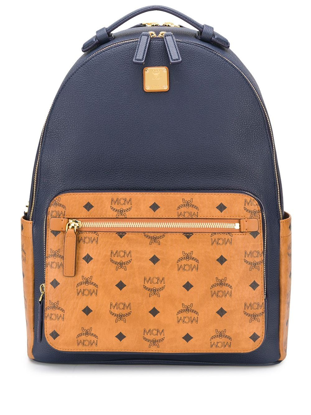 Mcm Leathers MCM WOMEN'S BLUE LEATHER BACKPACK