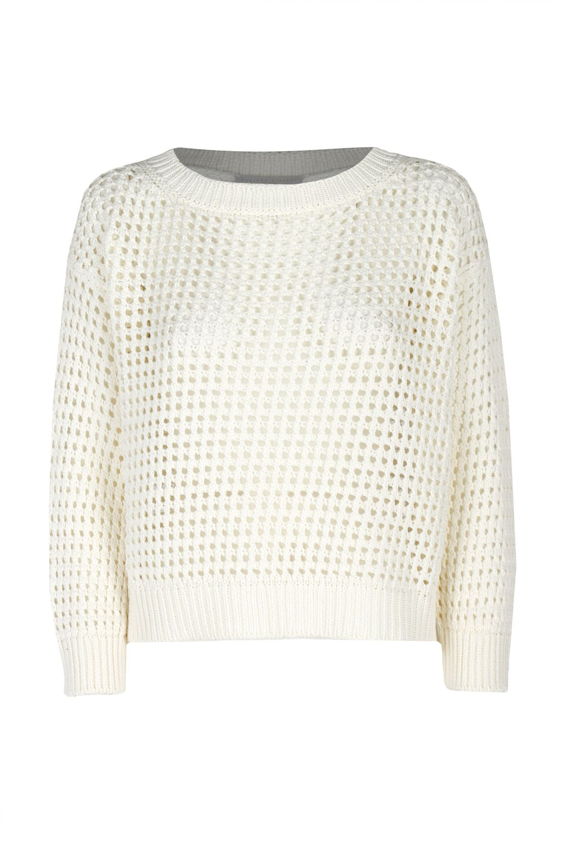 Fabiana Filippi FABIANA FILIPPI WOMEN'S WHITE COTTON SWEATER