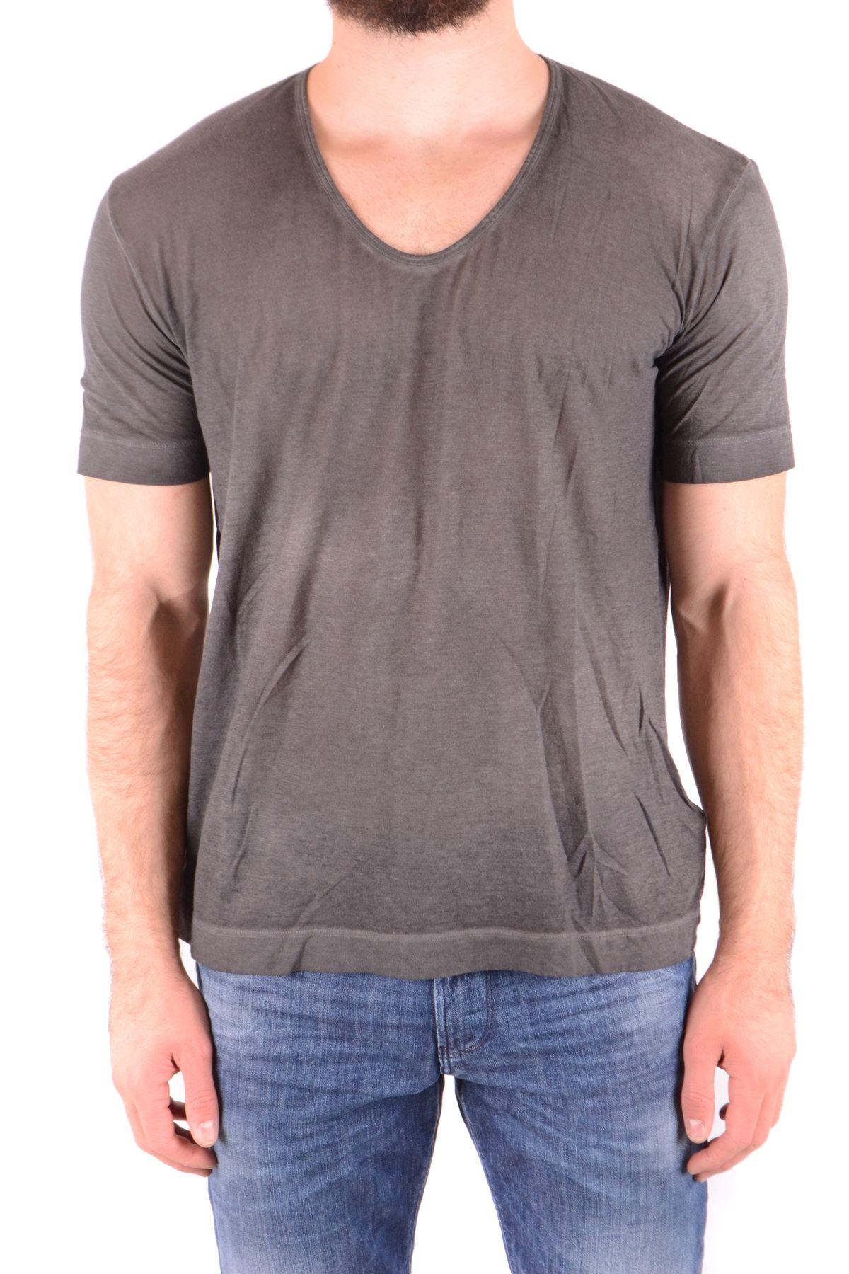Diesel Black Gold Grey Cotton T-Shirt