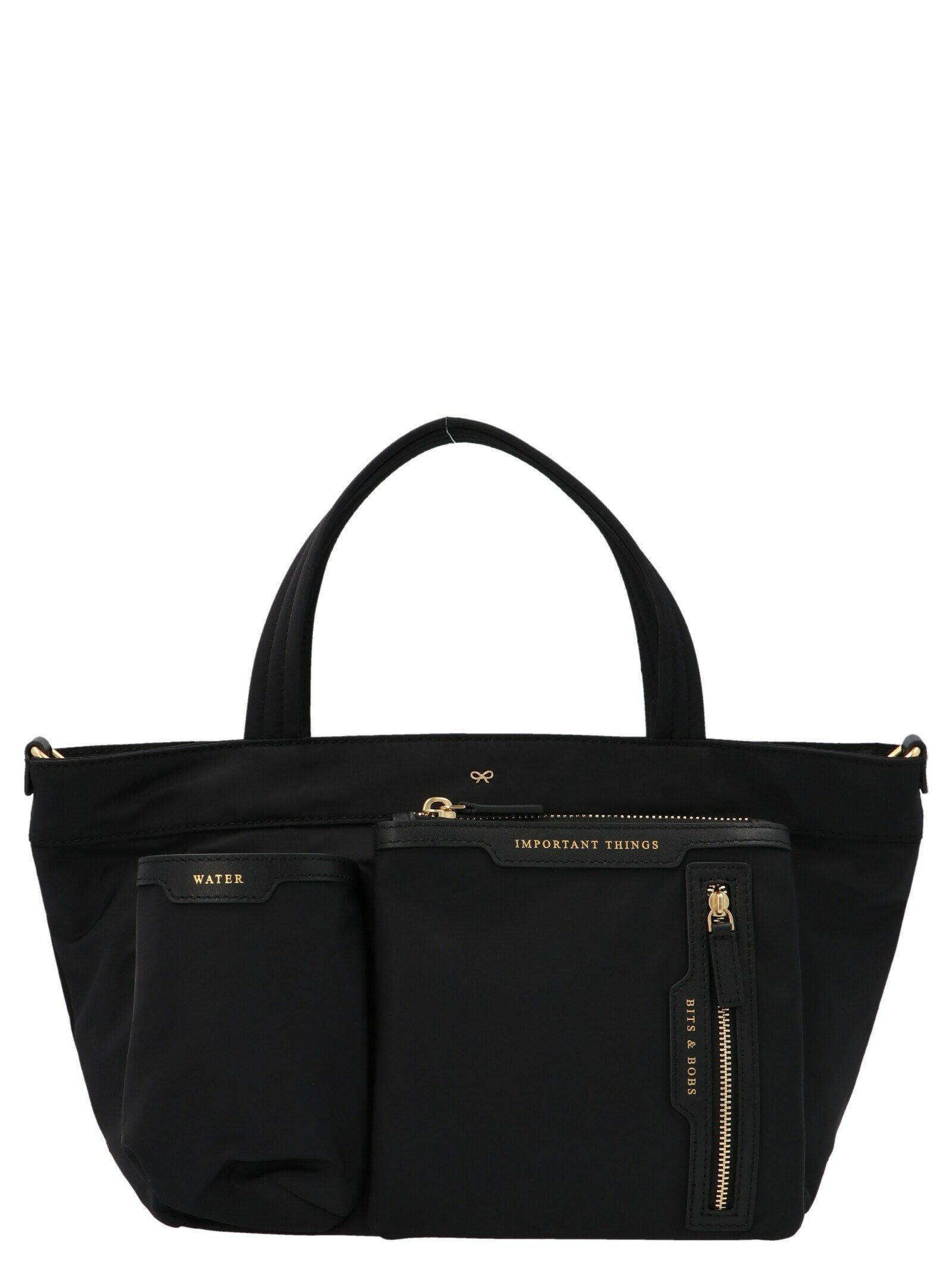 Anya Hindmarch ANYA HINDMARCH WOMEN'S BLACK OTHER MATERIALS TOTE