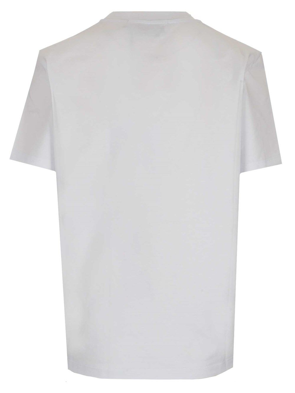 MSGM Cottons MSGM WOMEN'S WHITE OTHER MATERIALS T-SHIRT