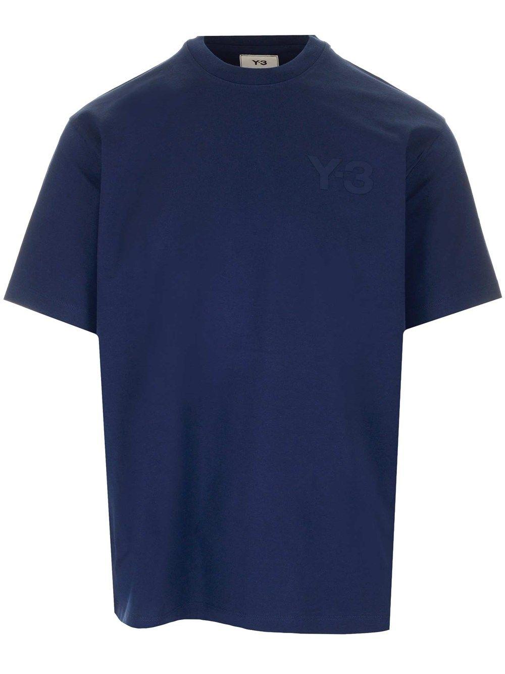 Adidas Y-3 Yohji Yamamoto Cottons ADIDAS Y-3 YOHJI YAMAMOTO MEN'S BLUE OTHER MATERIALS T-SHIRT