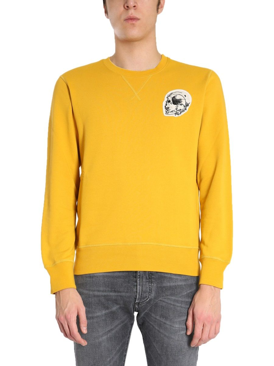 Alexander Mcqueen ALEXANDER MCQUEEN MEN'S YELLOW OTHER MATERIALS SWEATSHIRT