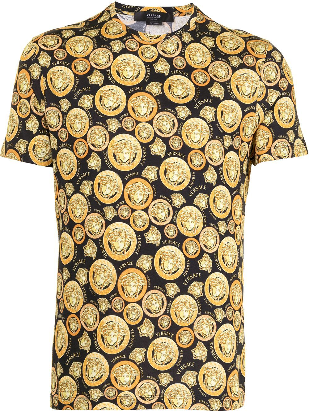 Versace VERSACE MEN'S GOLD COTTON T-SHIRT