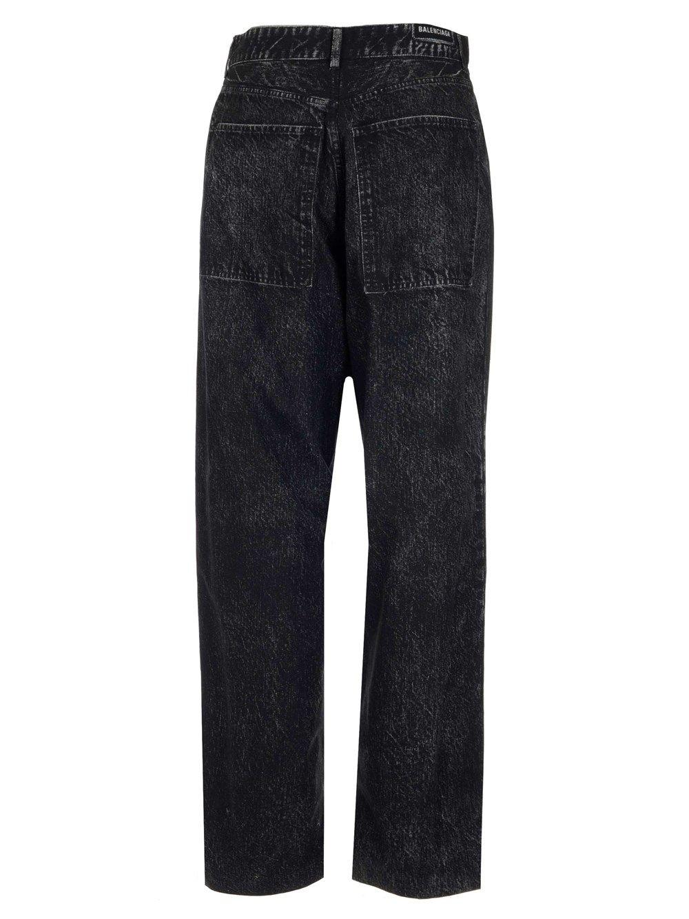 BALENCIAGA Jeans BALENCIAGA WOMEN'S BLACK OTHER MATERIALS JEANS