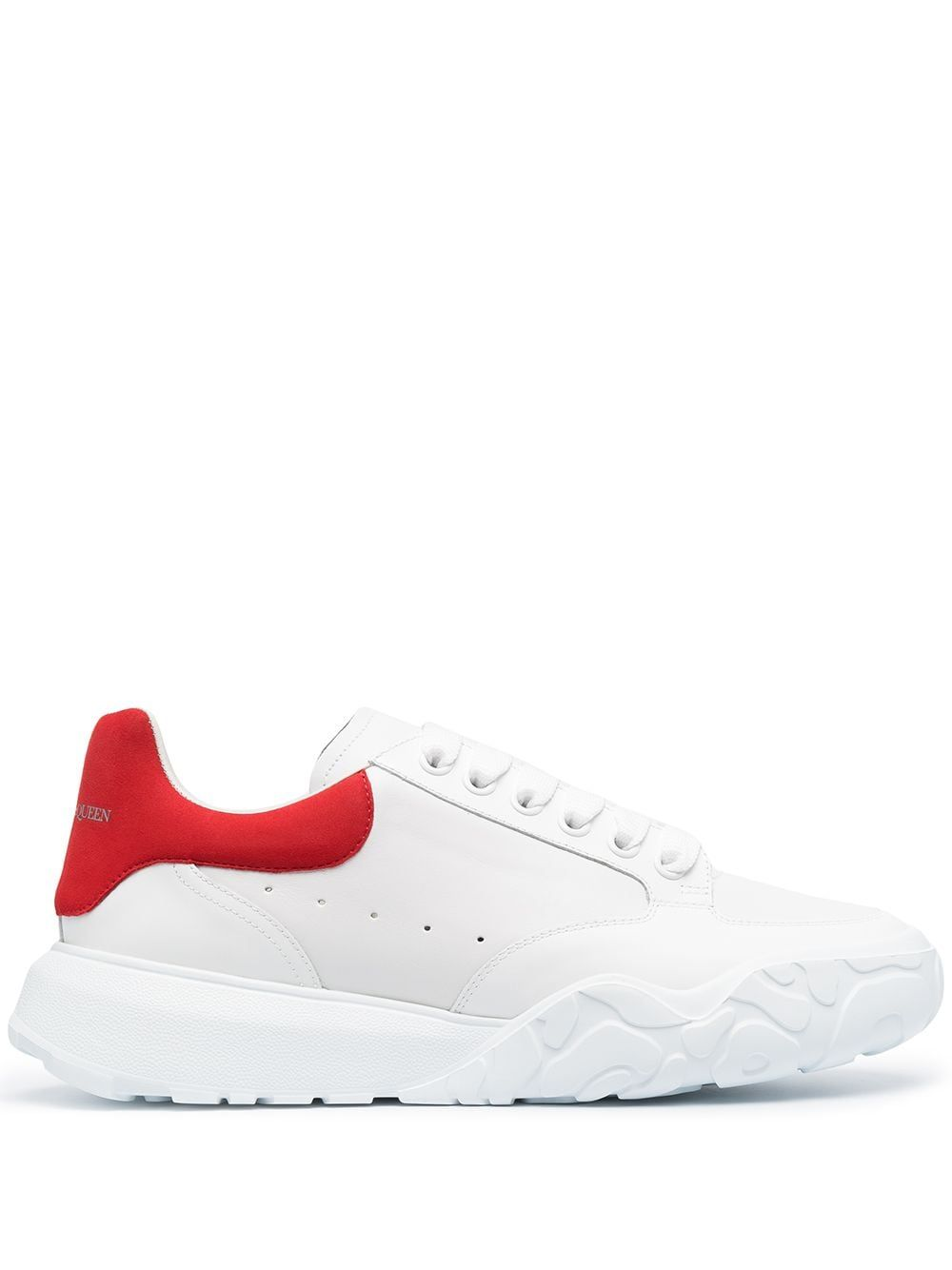 Alexander Mcqueen ALEXANDER MCQUEEN MEN'S WHITE LEATHER SNEAKERS