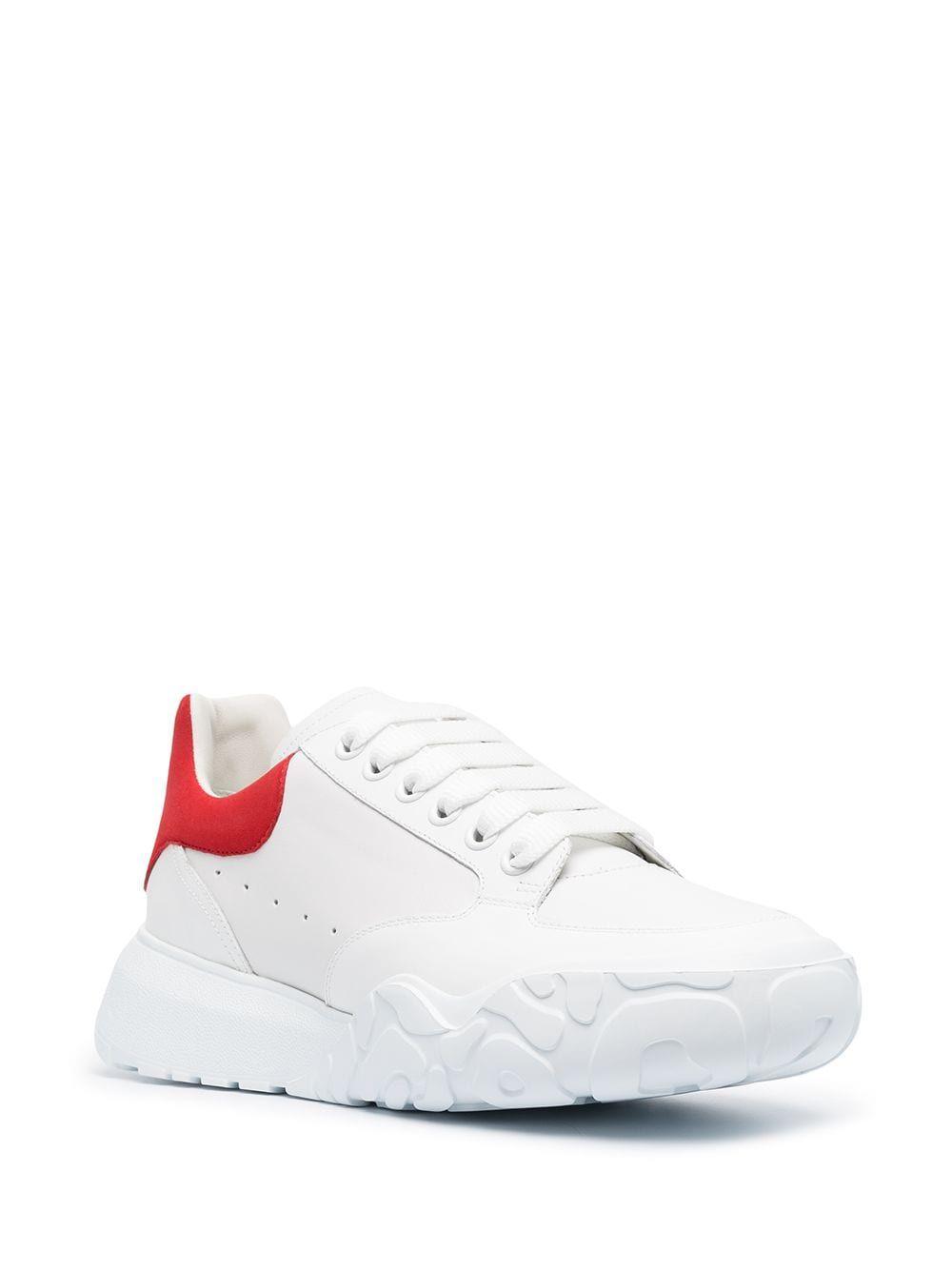 ALEXANDER MCQUEEN Sneakers ALEXANDER MCQUEEN MEN'S WHITE LEATHER SNEAKERS