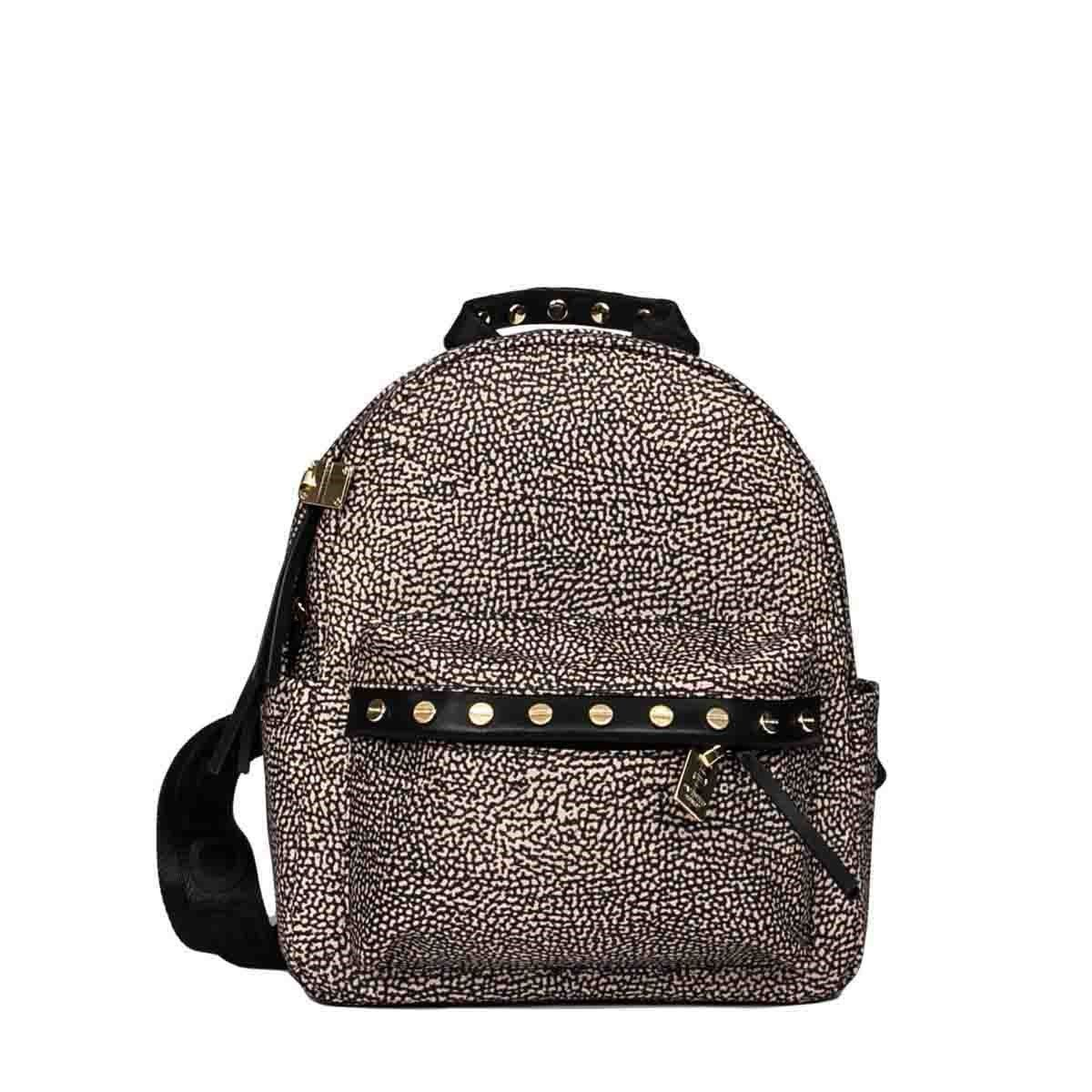 Borbonese BORBONESE WOMEN'S BROWN POLYESTER BACKPACK