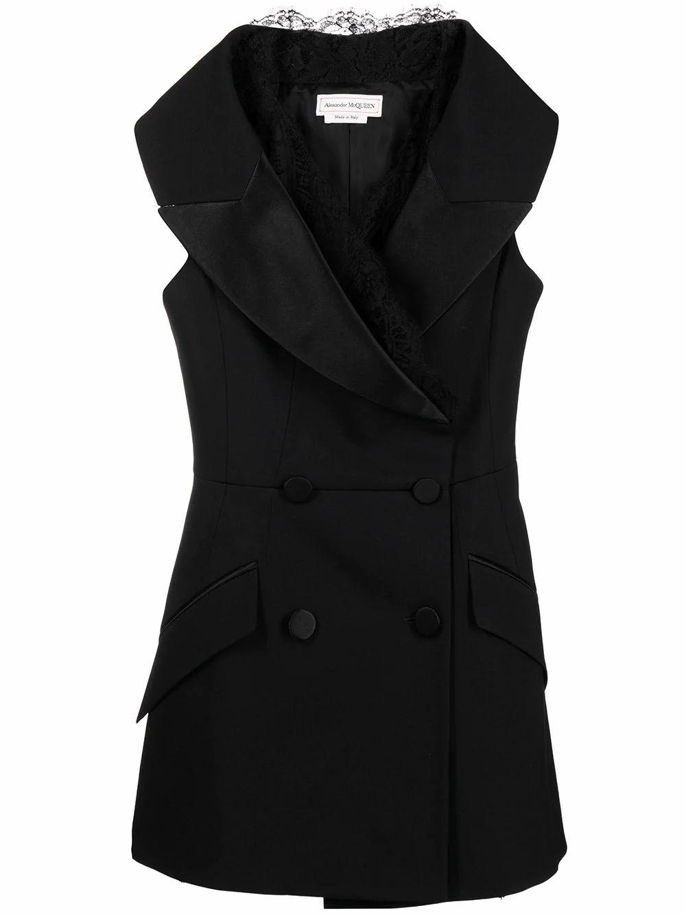 Alexander Mcqueen Wools ALEXANDER MCQUEEN WOMEN'S BLACK WOOL DRESS