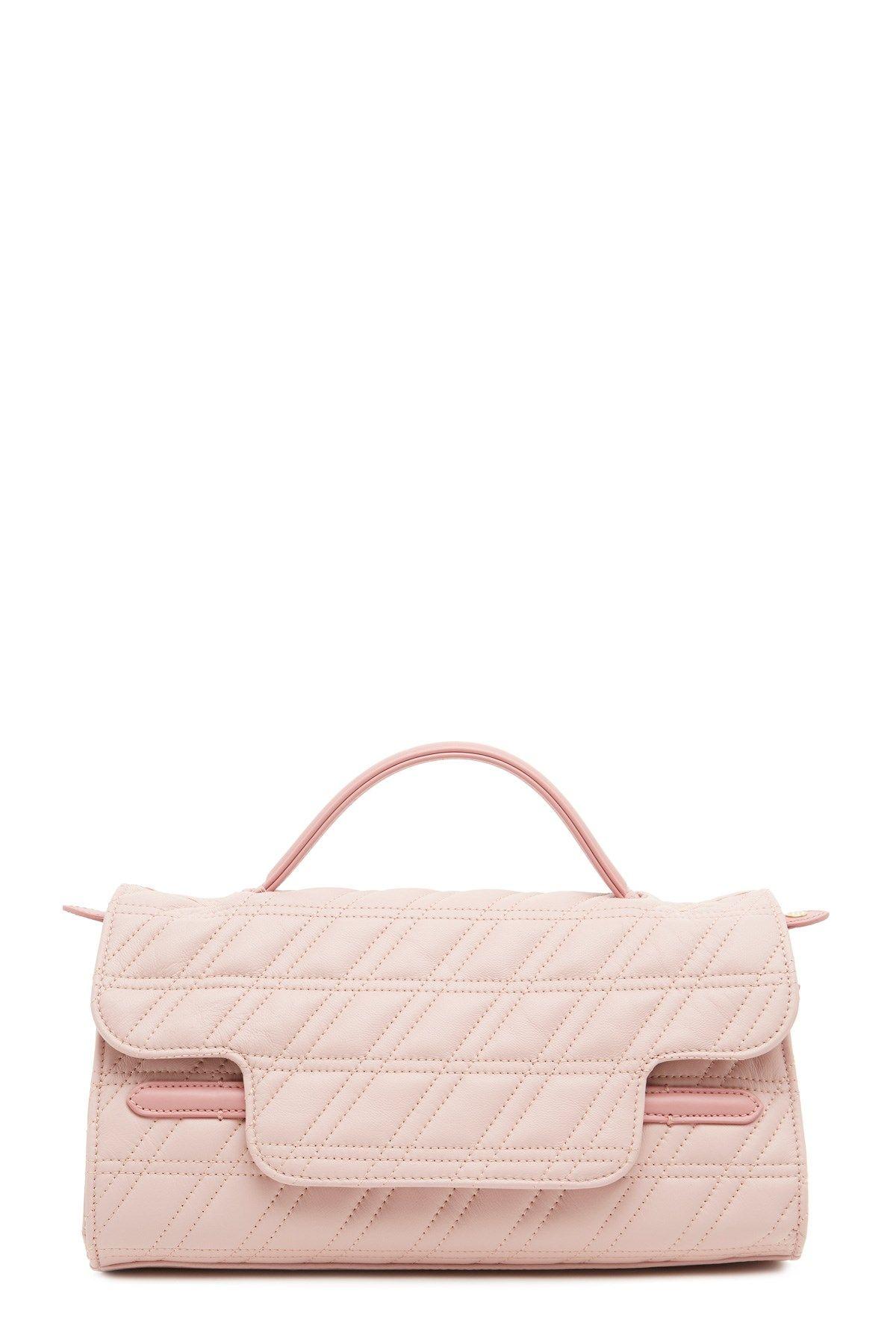 Zanellato Nina S Zeta Pink Matelasse Leather Bag