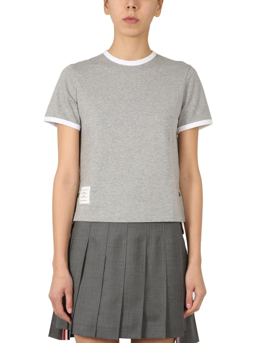 Thom Browne THOM BROWNE WOMEN'S GREY OTHER MATERIALS T-SHIRT
