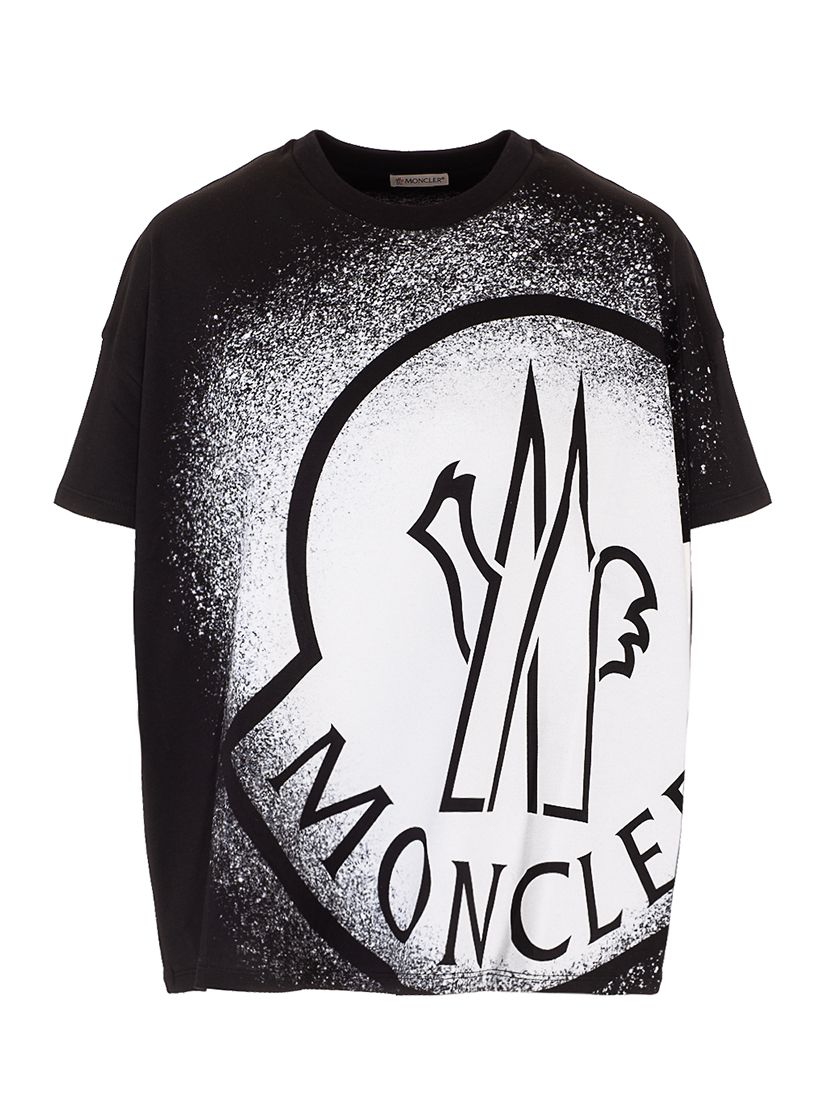 Moncler MONCLER WOMEN'S BLACK OTHER MATERIALS T-SHIRT