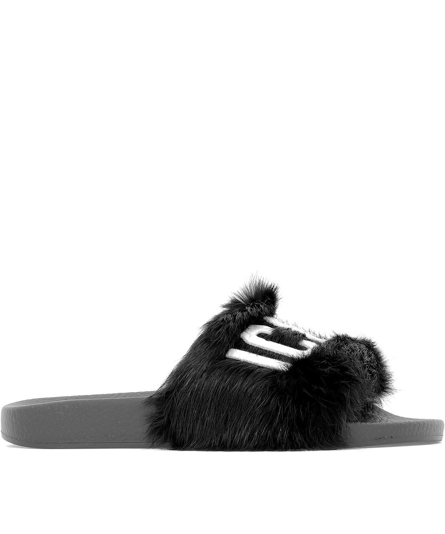 Dsquared2 Black Leather Sandals