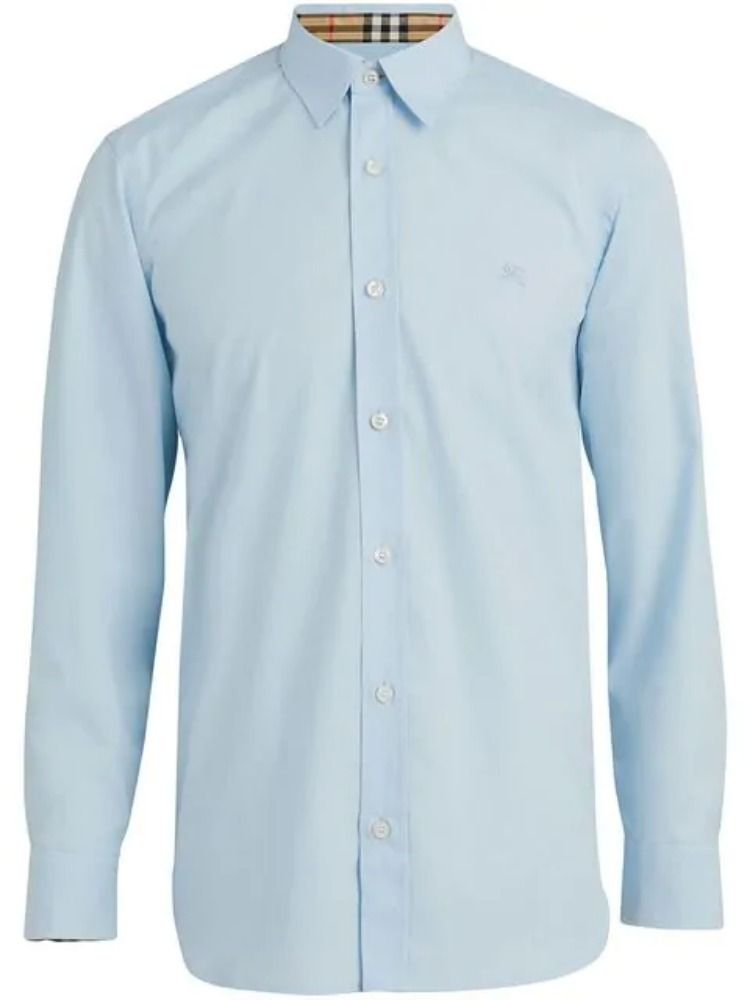 a8ee8ba0 Burberry William Stretch Poplin Sport Shirt In Blue | ModeSens