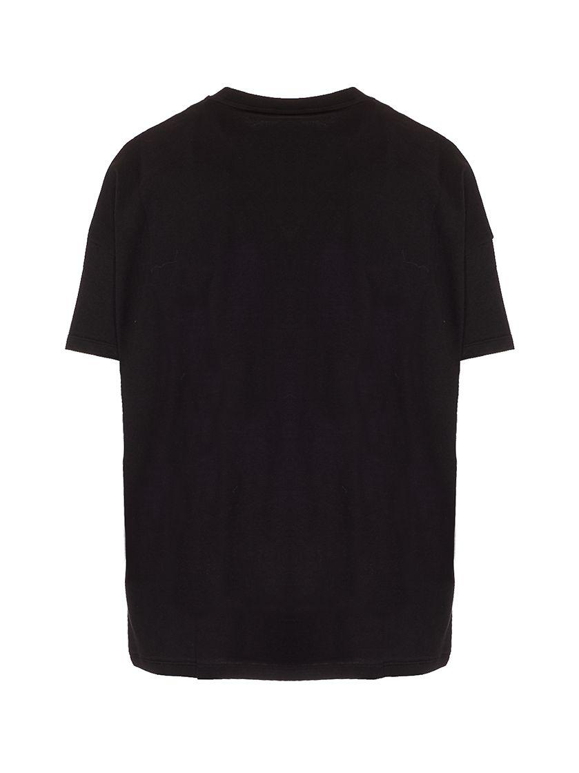 MONCLER T-shirts MONCLER WOMEN'S BLACK OTHER MATERIALS T-SHIRT