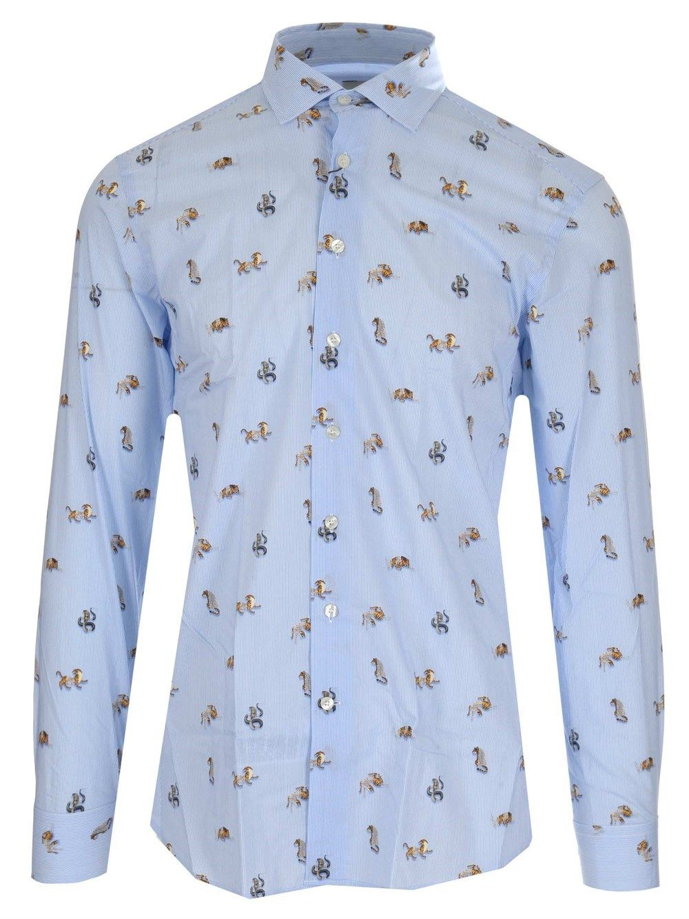 Etro Cottons ETRO MEN'S LIGHT BLUE OTHER MATERIALS SHIRT