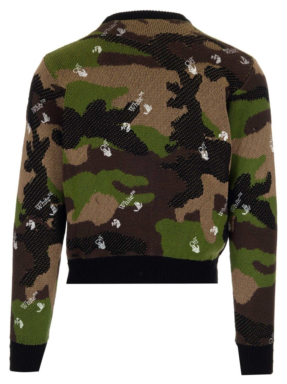 OFF-WHITE Cottons OFF-WHITE MEN'S GREEN OTHER MATERIALS SWEATER