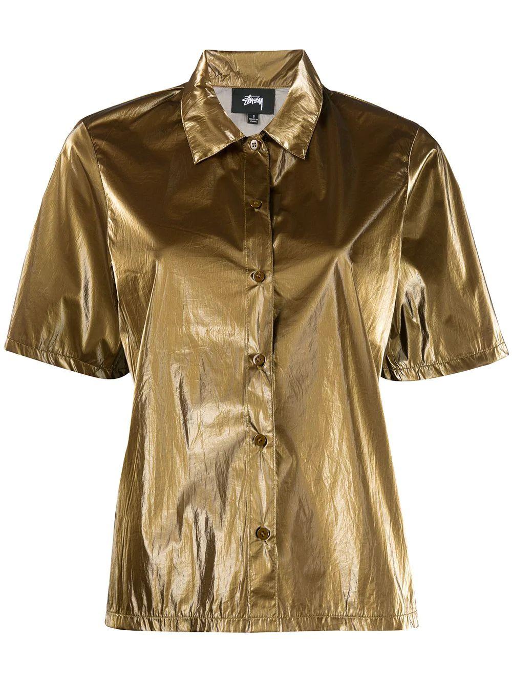 Stussy GOLD POLYAMIDE SHIRT