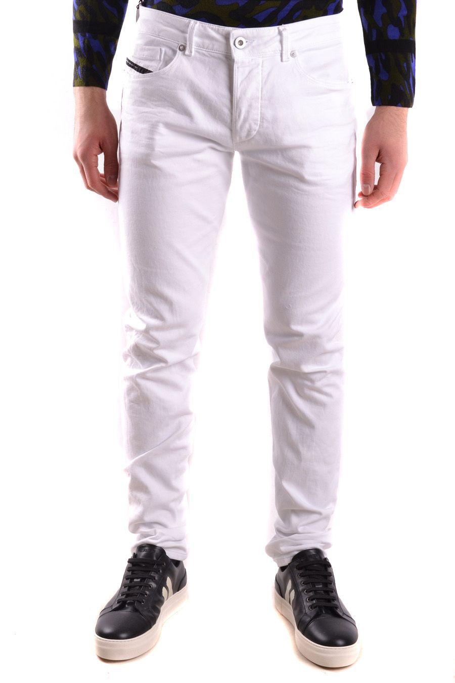 Diesel Black Gold White Cotton Jeans
