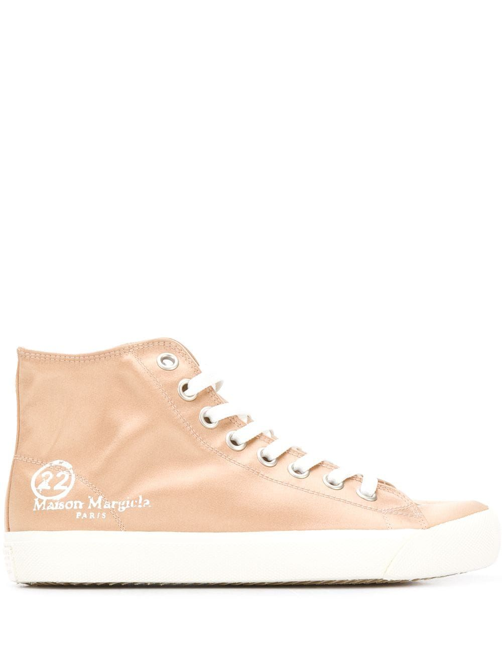 Maison Margiela MAISON MARGIELA WOMEN'S PINK LEATHER HI TOP SNEAKERS