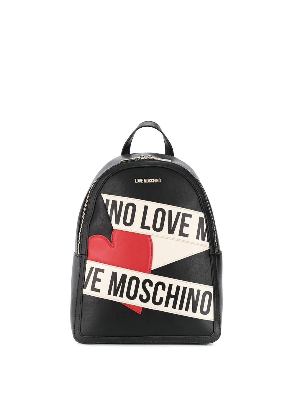 LOVE MOSCHINO LOVE MOSCHINO WOMEN'S BLACK FAUX LEATHER BACKPACK
