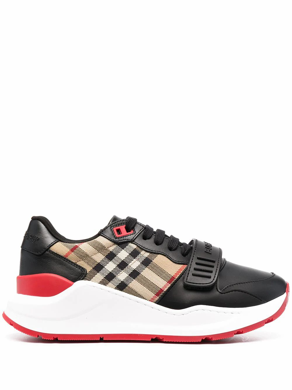 Burberry Leathers BURBERRY WOMEN'S BLACK LEATHER SNEAKERS