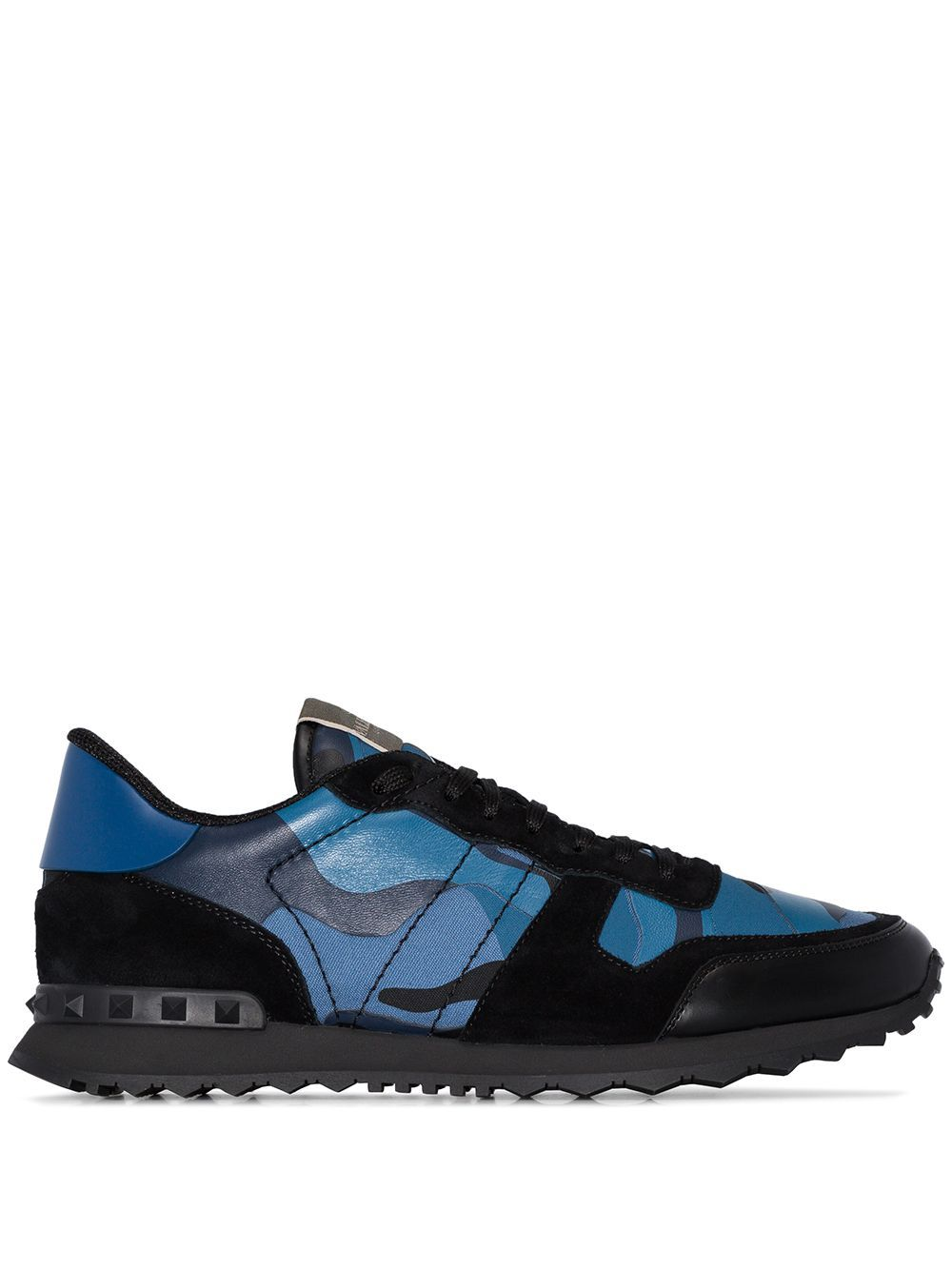 Valentino VALENTINO GARAVANI MEN'S BLUE LEATHER SNEAKERS
