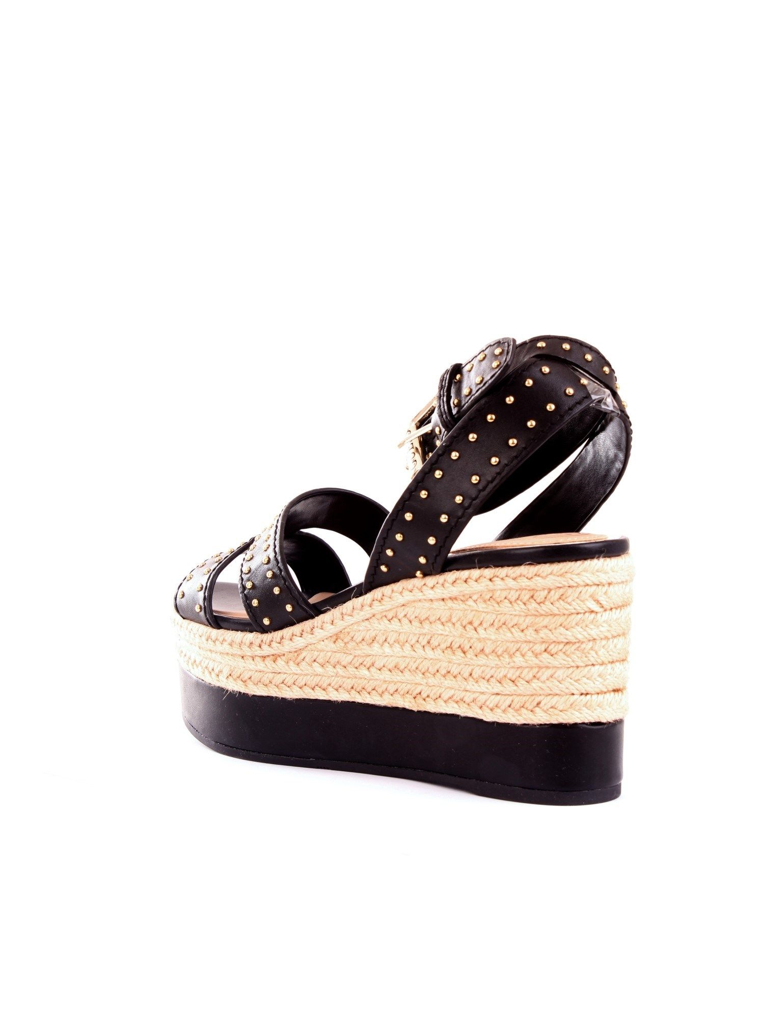 GUESS Wedges GUESS WOMEN'S BLACK SYNTHETIC FIBERS WEDGES