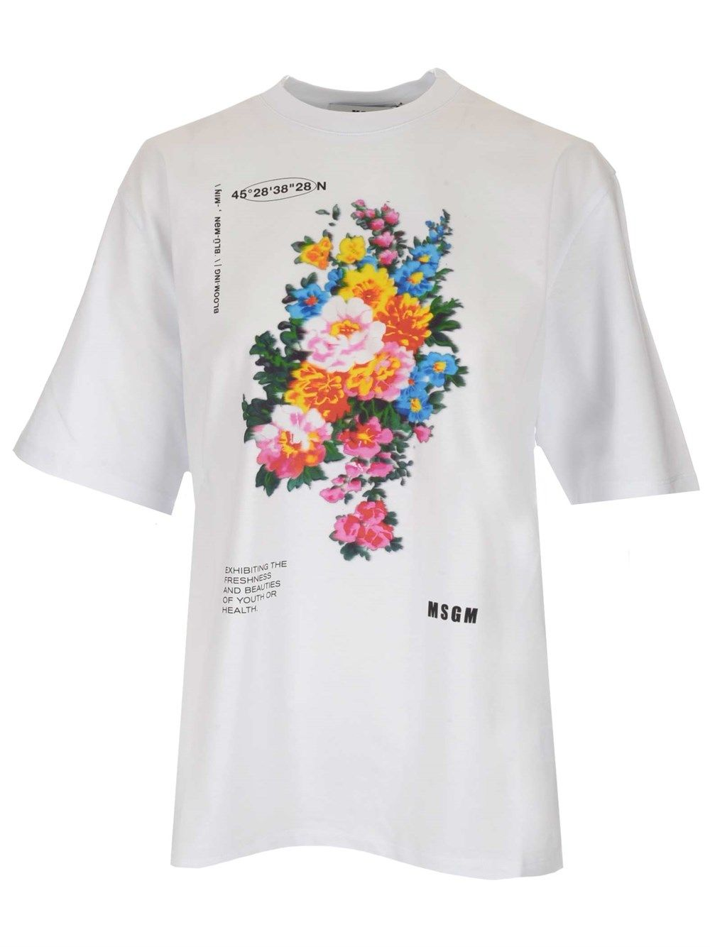 Msgm MSGM WOMEN'S WHITE OTHER MATERIALS T-SHIRT