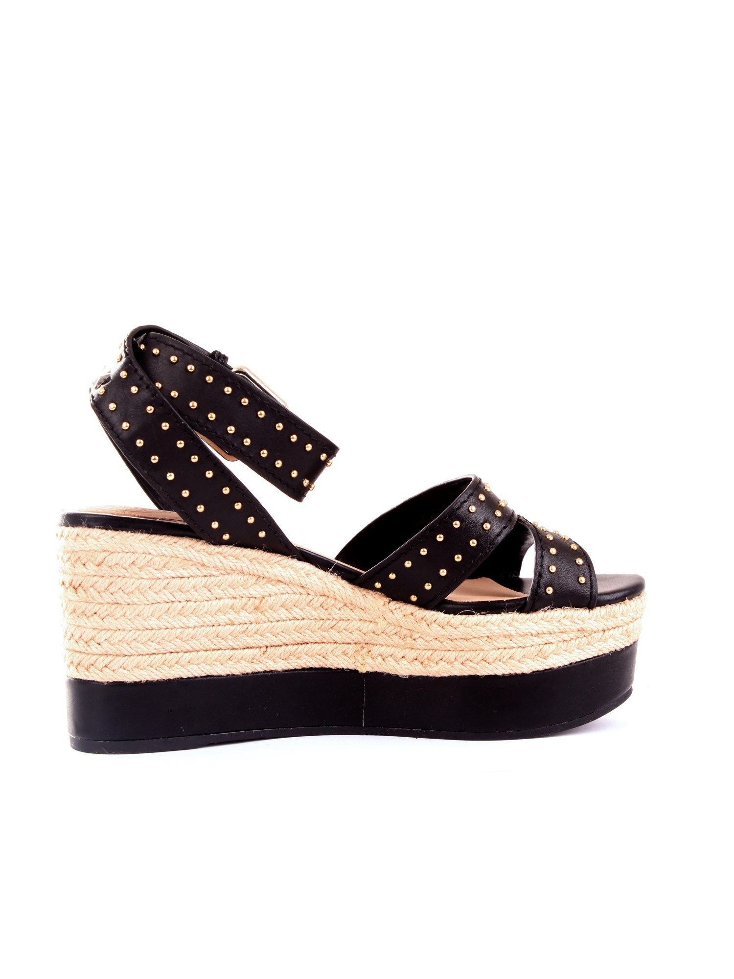 Guess GUESS WOMEN'S BLACK SYNTHETIC FIBERS WEDGES