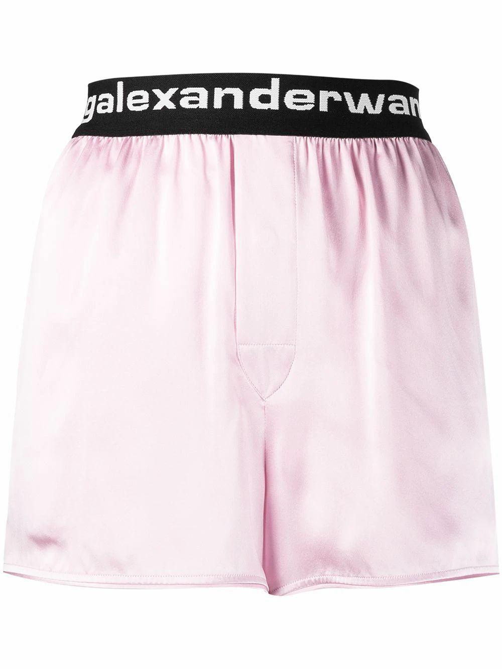 Alexander Wang Silks ALEXANDER WANG WOMEN'S PINK SILK SHORTS