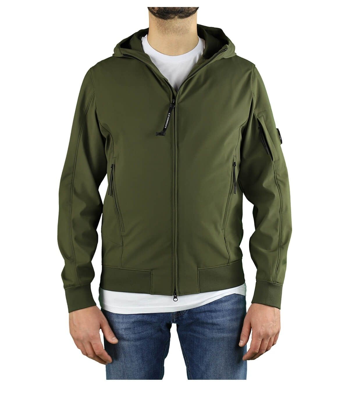 C.p. Company CP COMPANY MEN'S GREEN POLYAMIDE OUTERWEAR JACKET